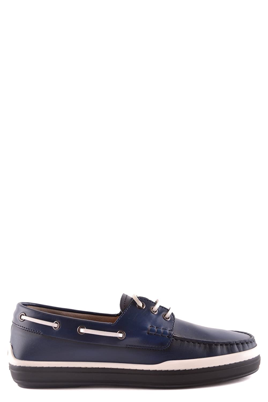 Men's MCBI293122O Blue Leather Loafers
