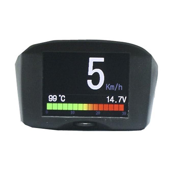Autool X50 Plus coche lector de códigos de error OBD Smart Medidor Digital y alarma medidor de temperatura del agua velocidad medidor de voltaje digital ...