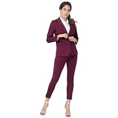 Marycrafts Women's Business Blazer Pant Suit Set for Work: Clothing