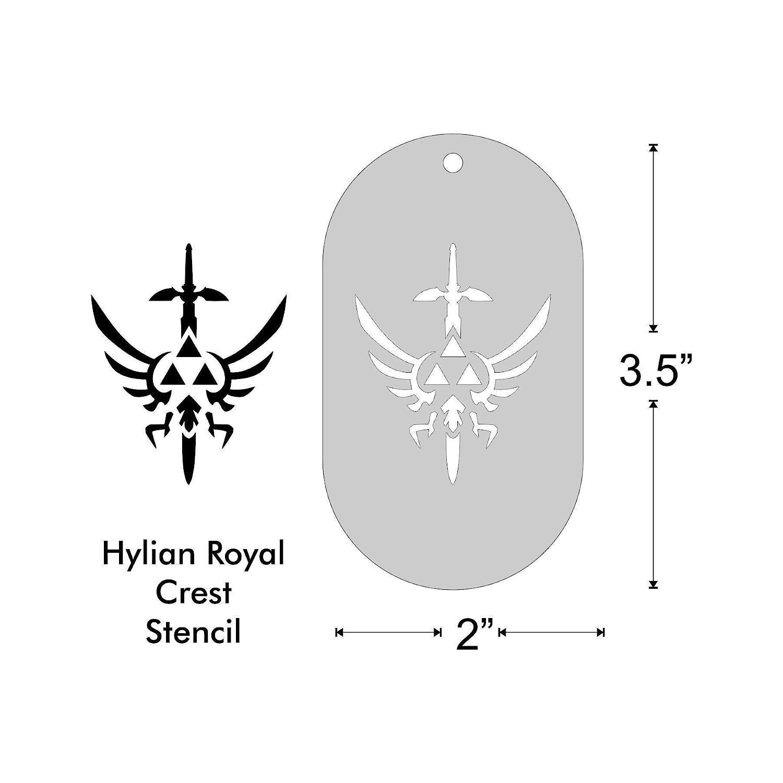 Amazon Com Stencil Zelda Hylian Royal Crest 1 85x1 5 Inch Image On 3 5x2 Border Size 1 Handmade