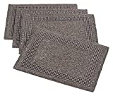 Saro LifeStyle 3270.PW1318B  Beaded Design Placemat , Pewter, 13''x19'' (Set of 4 pcs)