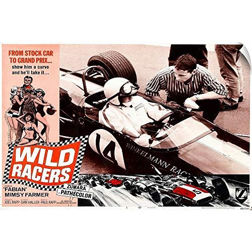 (CANVAS ON DEMAND Wild Racers Wall Peel Art Print, 18