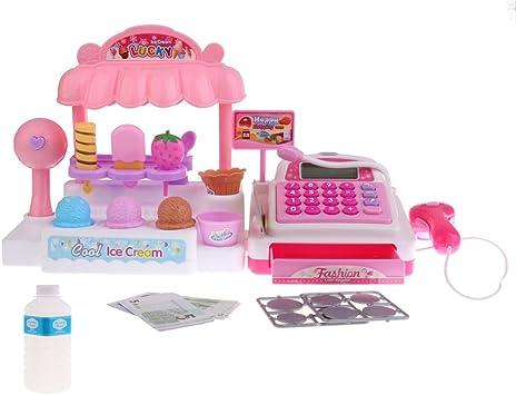 Sistema de Caja Registradora de Tienda de Simulación Juguetes de Juego de rol de Niños - Tienda de Helado: Amazon.es: Juguetes y juegos