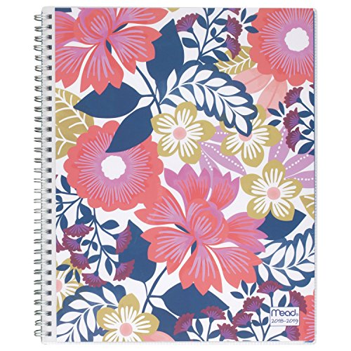 Mead 2018-2019 Academic Year Weekly & Monthly Planner, Large, 8-1/2 x 11, Customizable, Animal Floral, Design Will Vary (CAW566-10)