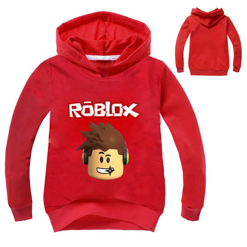 Boys Grils Kids Roblox Thin Hoodie Sweatshirt
