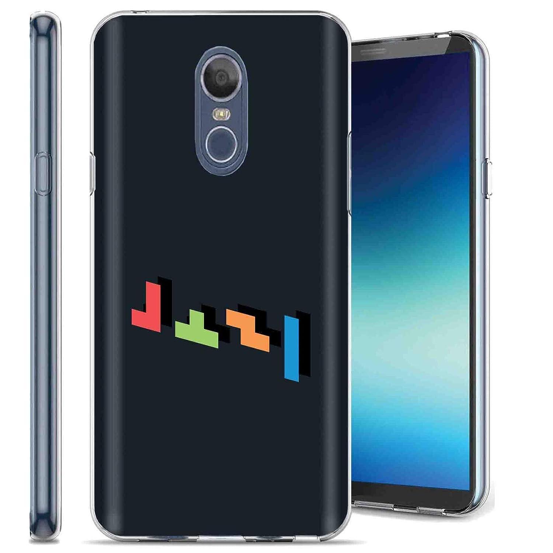 TalkingCase Phone Case for LG Stylo 4,Stylo4 Plus,Clear Premium Thin Gel Phone Cover,Ultra Flexible Slim TPU,Minimalistic Tetris Gamer Print, Design and Print in USA