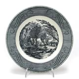 Currier & Ives, Blue by Royal, China Dinner Plate