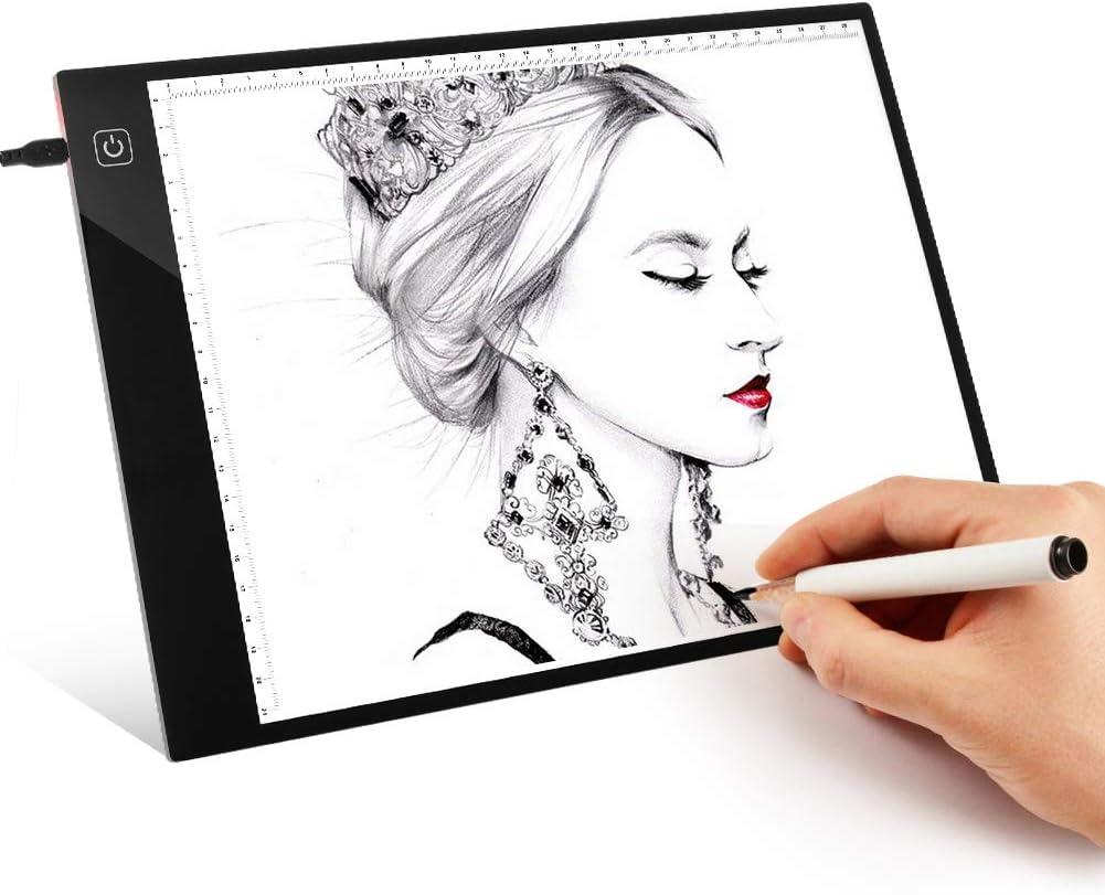 Light Box Tracing - Bloc de luz digital A4 con USB y tarjeta de copia, ultra delgado, para dibujar, caja de luz para artistas