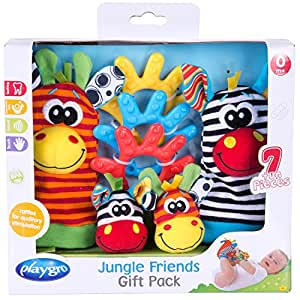 Playgro Jungle Friends Gift Pack for baby infant toddler children 0182436,  Playgro is Encouraging Imagination with STEM/STEM for a bright future - Great start for a world of learning