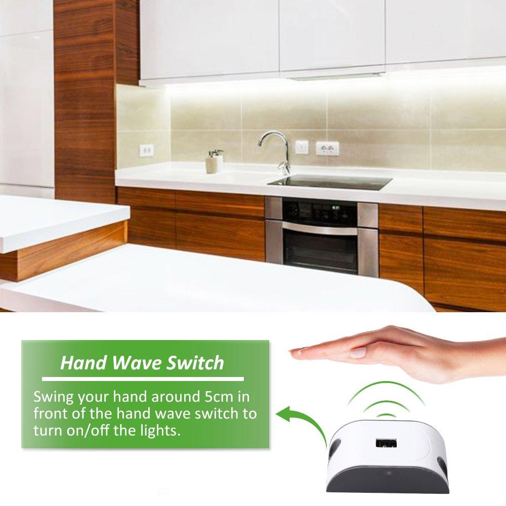 Ustellar Led Under Cabinet Lighting Kit 10ft 1500lm Led Light Strip Hand Wave Ebay