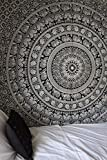 Amazon Price History for:Labhanshi 90 x 90 inch Elephant Mandala Indian Traditional Hippie Cotton Tapestry, Black and White, Queen