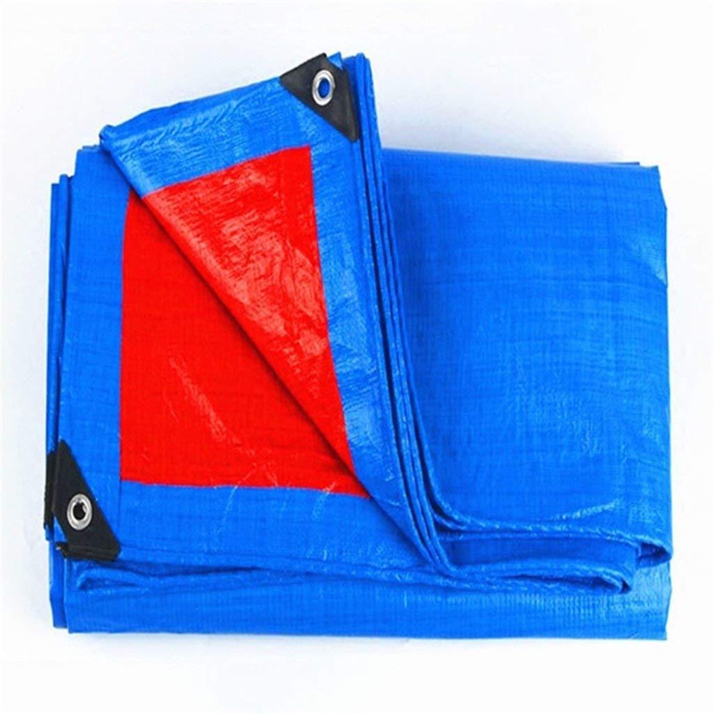 WCS Kundengebundener starker PVC-überzogener Stoff-feuerfester Stoff DREI Anti-Kleidungs-flammhemmender Stoff-Hochtemperatur-Regen-Abdeckungs-Waren-Wasserdichte Plane rot + blau (160g   Quadratmeter,