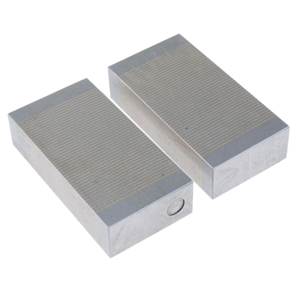 B Blesiya Steel Magnetic Induction Block Pair 1 Pair V Block High Precision 2pcs for Inspection Machining
