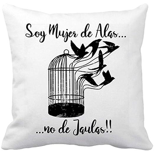 Diver Bebé Cojín con Relleno Soy Mujer de alas no de jaulas Mujer ...