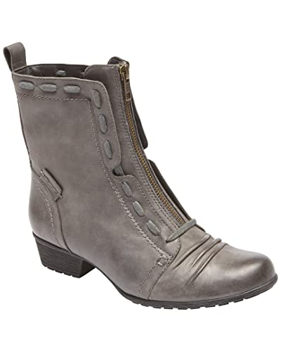Rockport Cobb Hill Collection Womens Cobb Hill Gratasha Zip Boot Grey Size 8.0