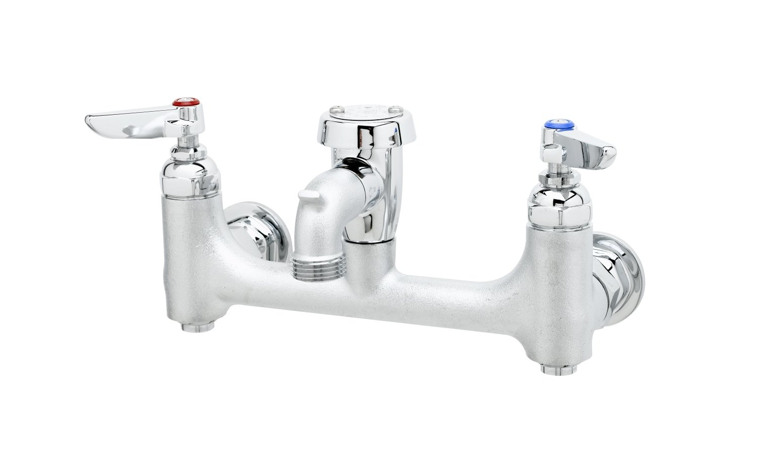 T&S Brass B-0674-BSTR Wall Mount Service Sink Faucet with 8-Inch ...