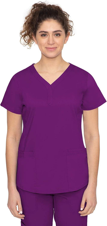 healing hands Purple Label Women's Jane Top – Two Pocket Y-Neck Scrub Top