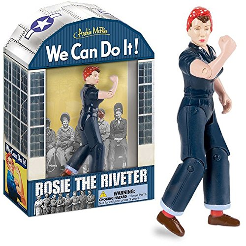 Rosie the Riveter Action Figure We Can Do It by Accoutrements
