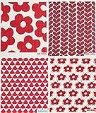 Swedish Dishcloth, Set of 4 Red (WD)