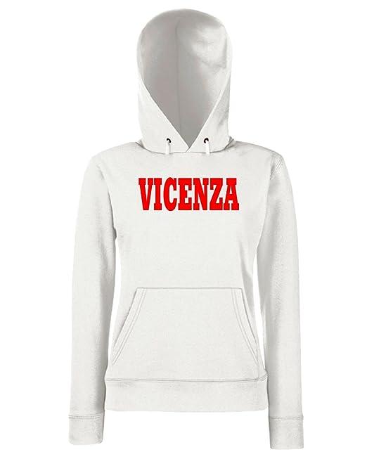 Italia Cappuccio Island Donna Vicenza Citta Wc0877 Cotton Felpa WwRfqUSUp