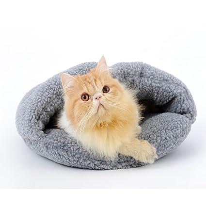 YIFNJCG Gato camada Gato Saco de Dormir casa de Gato Mascota Teddy pequeño Perro Cachorro Perrera