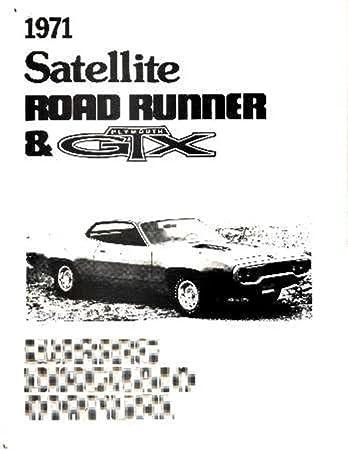 Amazon.com: bishko automotive literature 1971 Plymouth Road Runner Satellite  Electrical Wiring Diagrams Schematic Factory: AutomotiveAmazon.com