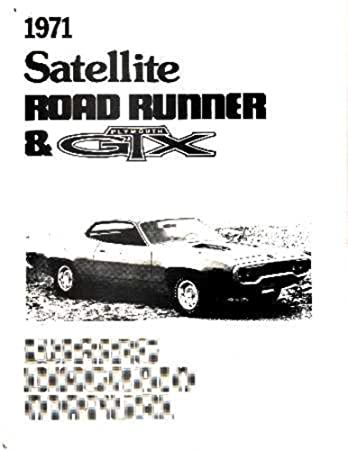 amazon com bishko automotive literature 1971 plymouth road runner 1973 Dodge Challenger Wiring Diagram bishko automotive literature 1971 plymouth road runner satellite electrical wiring diagrams schematic factory