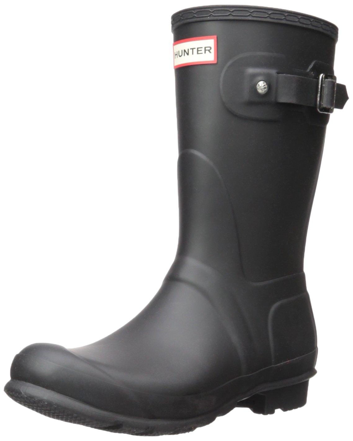 Hunter Women's Original Short Rain Boot B07D18XKHB 7 M US|Black