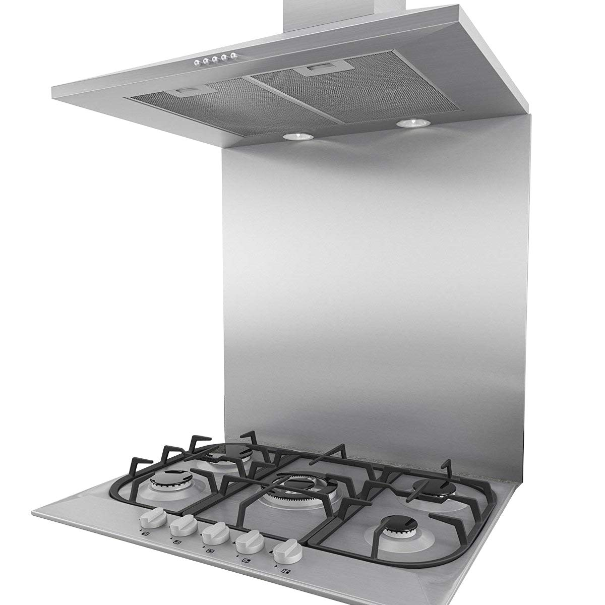 60cm * 75cm Splashback for Cooker Hoods 60cm Stainless Steel And Glass Kitchen Chimney Hood (60cm) CIARRA CBSBS60