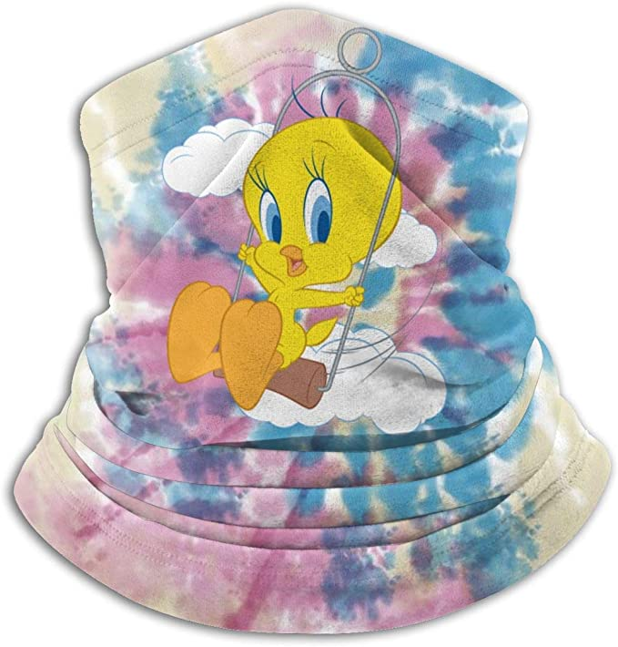 Tweety Bird Logo Unisex Face Cover Balaclava Scarf Neck Gaiter Sports Dust Cover Bandanas
