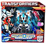 Transformers Power Core Combiners Series Robot Action Figure - Autobot STAKEOUT with 4 Protectobots (Mobile Artillery, APC Drone, Helicopter Drone and Fighter Jet Drone)