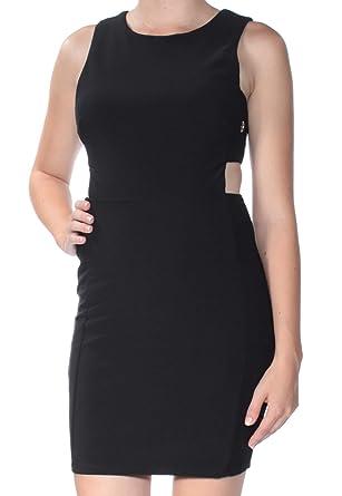 City Studio Womens Black Cut Out Eyelet Sleeveless Jewel Neck Mini Body Con  Dress Juniors Size  7  Amazon.co.uk  Clothing 7437ed67f