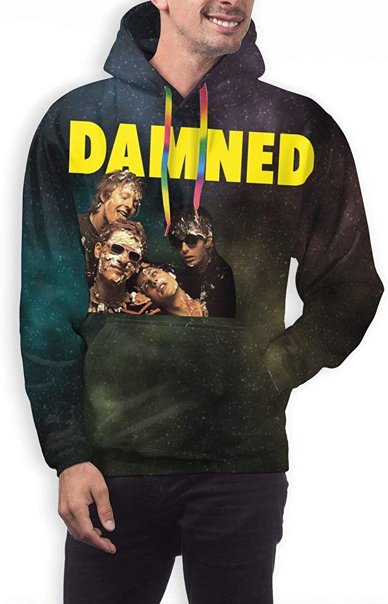 KennethDubreuil The Damned Play It at Your Sister Mens Funny 3D Print Long Sleeve Hoodie Sweatshirt