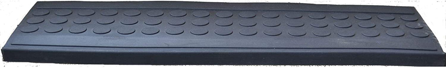 Imports Decor Inc Black Rectangular Skid Free Rubber Stair Mat 30