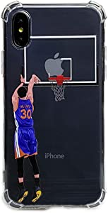 Basketball Stars Ultra Slim Crystal Clear Soft Transparent TPU Case Cover for Apple iPhone (Curry, 7+/8+)