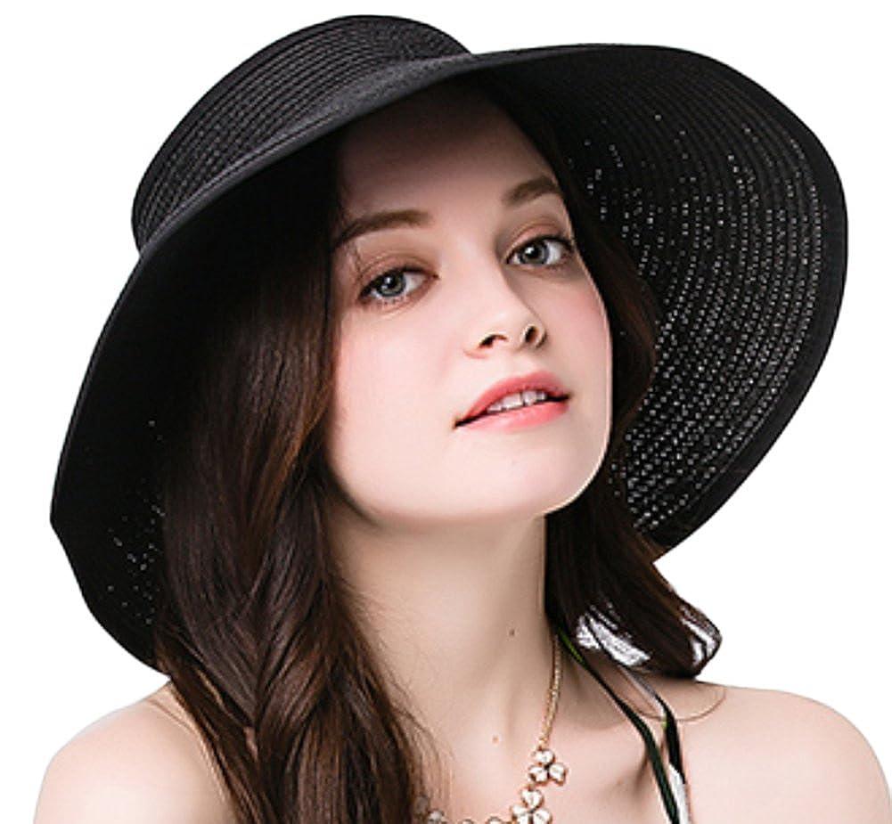 Leisial Mujer Sombrero Sol Gorro Ancho De Sol Color Sólido Diseño Elegante  Del Bowknot Casquillo De d68ed8859ff