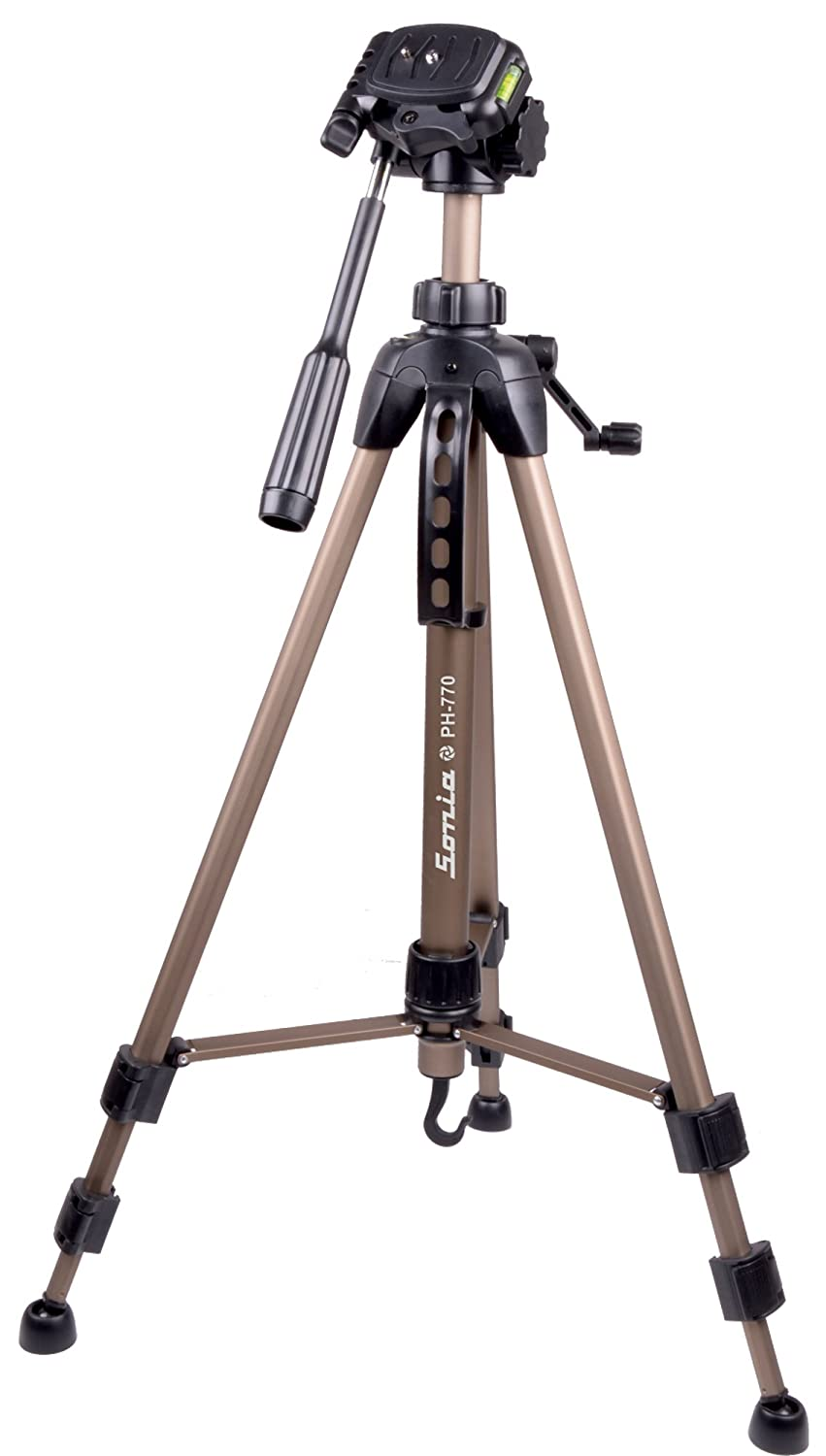 Sonia PH 770 Tripod with Bag for Digital SLR   Video Cameras  Load Capacity 3500 Grams  Complete Tripod Units