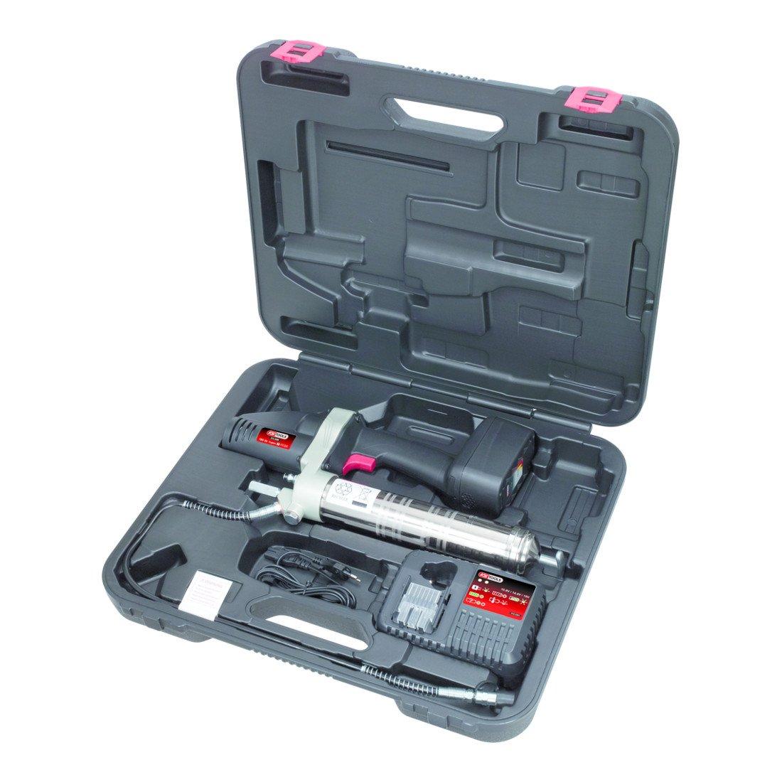 KS Tools 515.3560 400 ml Akku-Fettpresse 18V 420bar mit 1 Akku und 1 Ladeger/ät