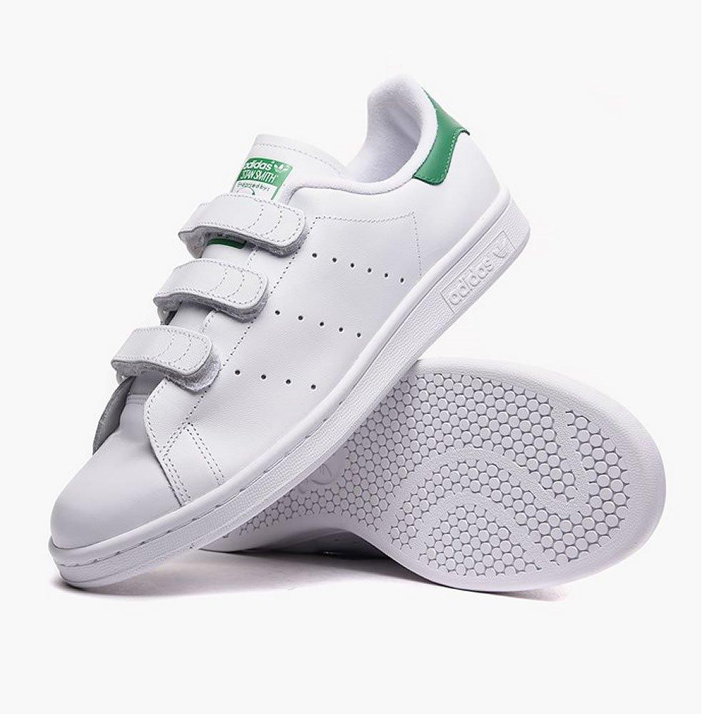 adidas (アディダス) スタンスミス ベルクロ adidas Originals STAN SMITH CF S75187 B06X93MP69 27.0 cm|ホワイト/グリーン ホワイト/グリーン 27.0 cm