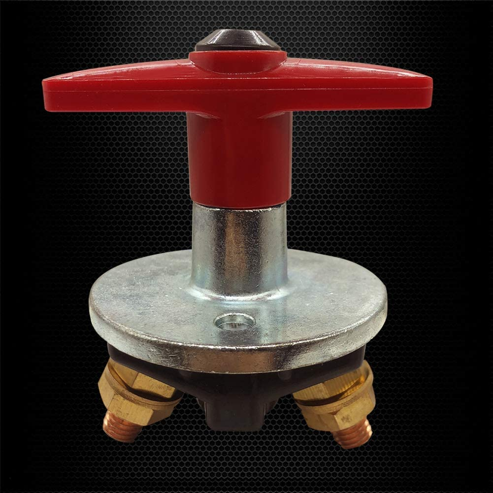 Ship Ampper Metal Battery Disconnect Switch On//Off RV and Truck Yacht Van 12-48 V Battery Master Switch Power Cut Off Isolator for Marine Boat