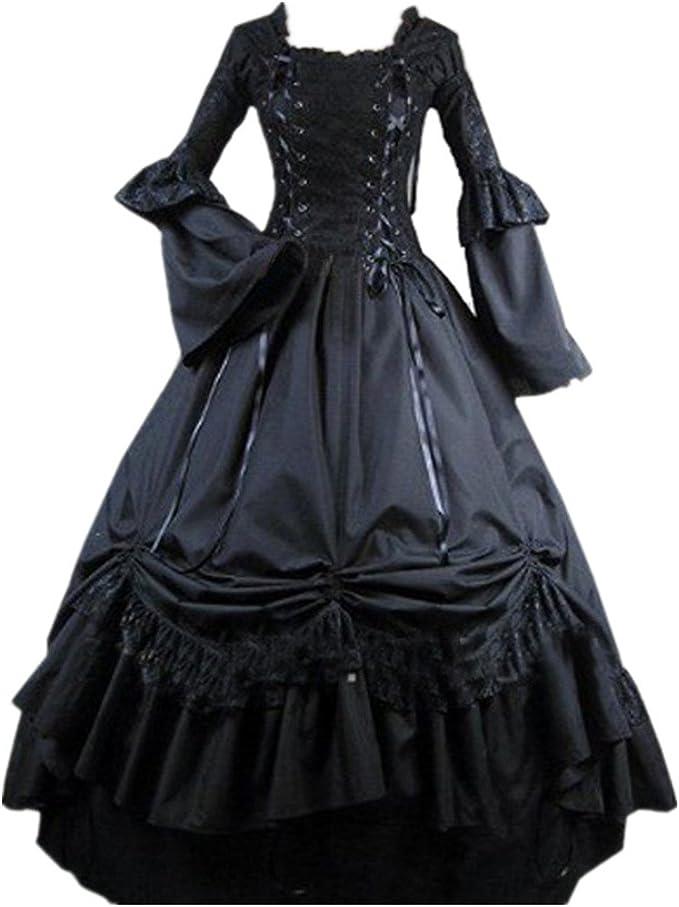 Amazon.com: Loli Miss vestido de mujer con cuello cuadrado ...