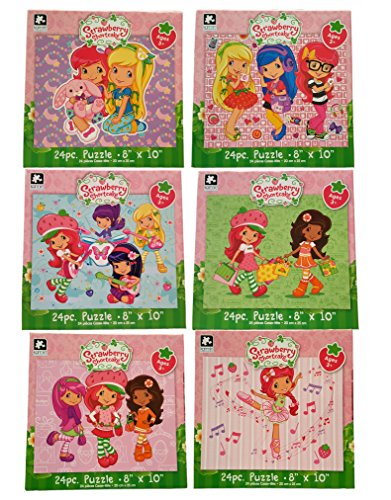 Set of 6 Strawberry Shortcake 24 Piece Puzzles (10
