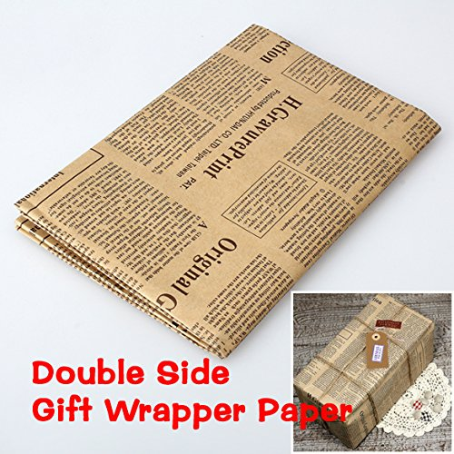 - ACE Wrapping Paper Wrap Double Sided Christmas craft Paper Vintage