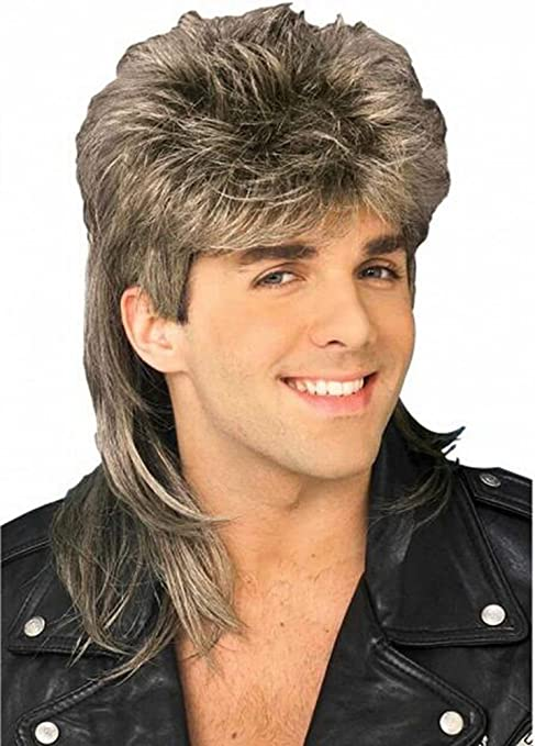 Diy-Wig Stylish Mens Retro 70s 80s Disco Mullet Wig