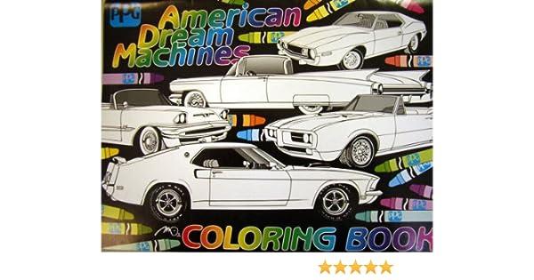 American Dream Machines Coloring Book: PPG: Amazon.com: Books
