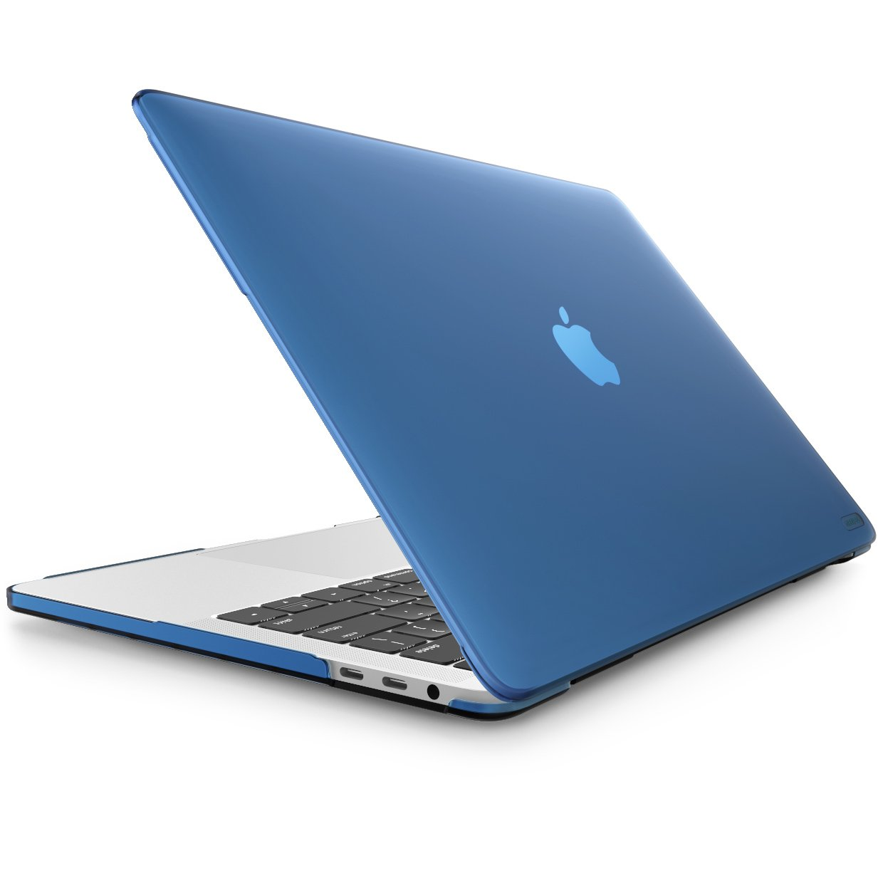 MacBook Pro 15 Case 2018 2017 2016 Release A1990/A1707, i-Blason [Heavy Duty] Slim Rubberized [Dual Layer] Cover with TPU Bumper for Apple MacBook Pro 15 inch with Touch Bar and Touch ID (Blue)
