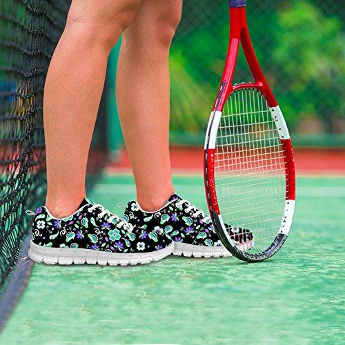 Bigcardesigns Donna Fashion Design Scarpe Da Ginnastica Sneakers Stringate Floreali