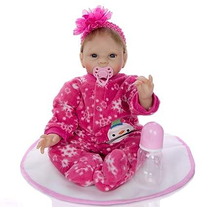FW-Baby Juguetes y Juegos muñeco Realista Chico Mini 22 Pulgadas 55 ...