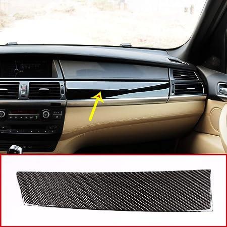 panel de la cubierta de ajuste 3PCS RHD interior puerta trasera izquierda derecha GIVELUCKY Para BMW E70 E71 X5 X6 volante a la derecha textura de carbono tirador parte delantera del autom/óvil