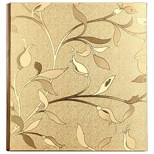 (Photo Album, Wedding Photo Album, Gold Cover 620 Pockets, 4x6 5x7 Photo Album, Wedding Family Birthday Anniversary Memory, US-AKI-003)